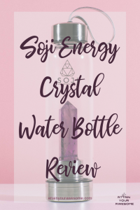 Soji Energy Crystal Water Bottle Review