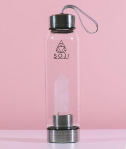 Soji Rose Quartz Energy Water Bottle